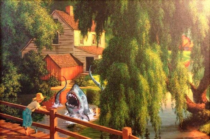 Artist Adds Awesome Pop Culture References To Thrift Store Paintings (21 pics)