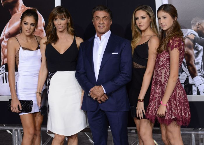 Sylvester Stallone Shows Off His Beautiful Family At The Creed Premiere (10 pics)