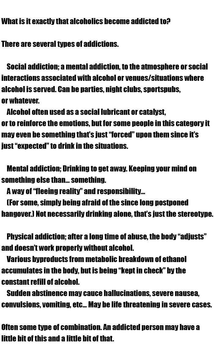 What Causes People To Become Addicted To Alcohol (2 pics)