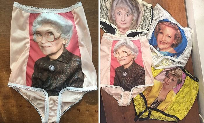 Someone Decided To Make Golden Girls Granny Panties And They're Ridiculous (8 pics)