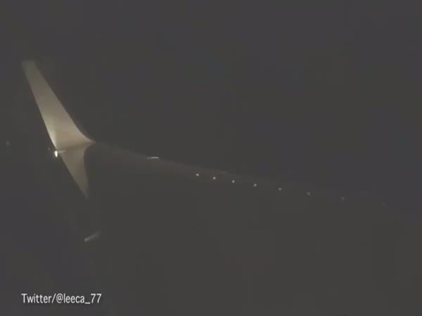Plane Passenger Films His Flight Through A Storm