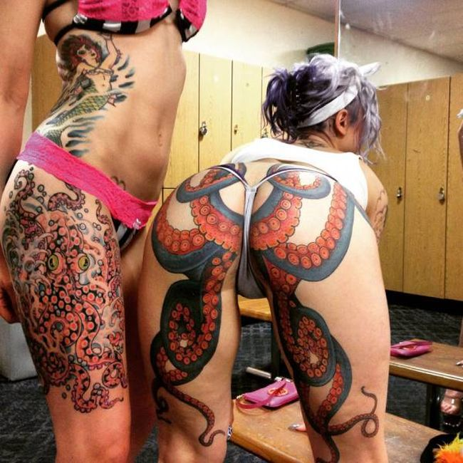 This Octopus Tattoo Is Both Awesome And Outrageous (6 pics)