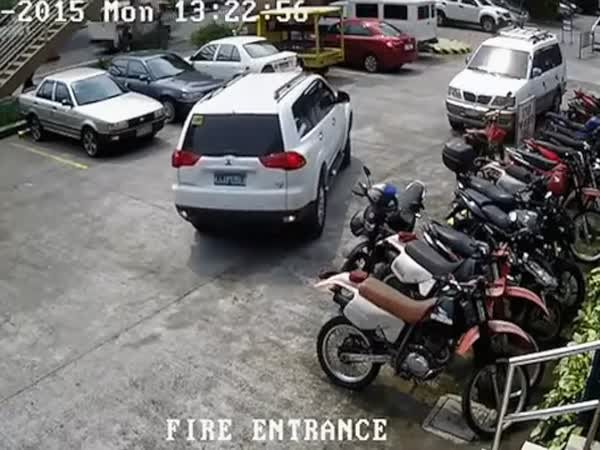 Car Crash In The Parking