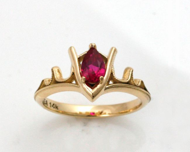 Girls Just Can't Refuse These Geeky Engagement Rings (30 pics)