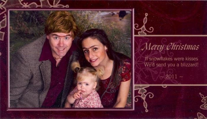Every Year This Couple Sends Out An Epic Christmas Card  (12 pics)