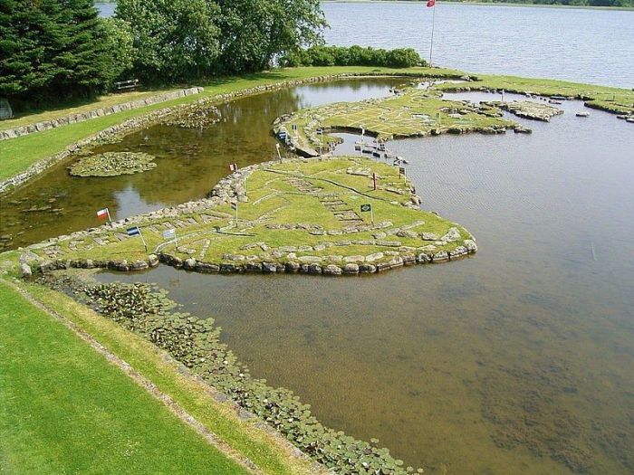 There's A Miniature Map Of The World On This Danish Lake (10 pics)
