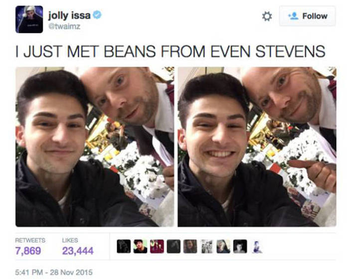 Beans From Even Stevens Now Works As Santa's Helper At A Mall (10 pics)