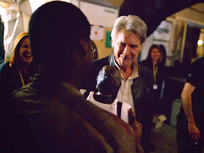 John Boyega Got Harrison Ford To Sign His Han Solo Action Figure (2 pics)