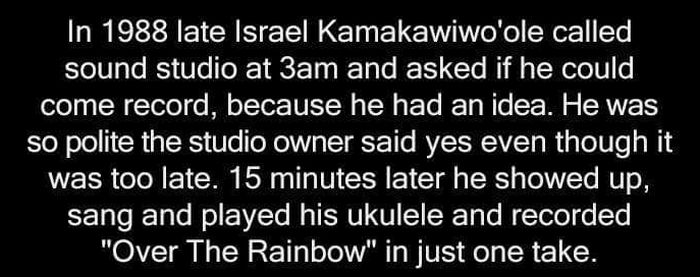 The True Story Of Israel Kamakawiwo'ole's Late Night Recording Session (2 pics)