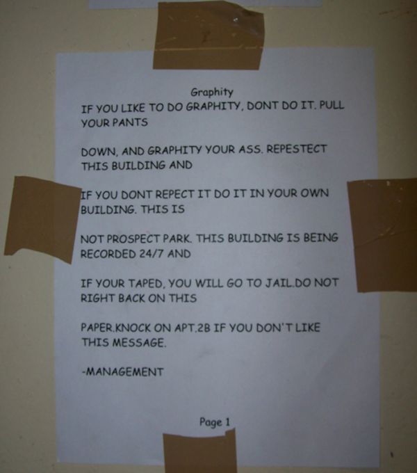 Hilarious And Creepy Notes Landlords Left For Their Tenants (11 pics)