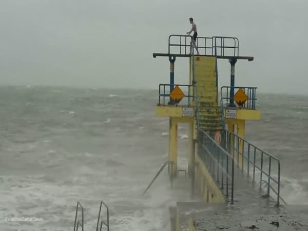 Shocking Moment Two Irish Teenagers Dived Into Tumultuous Seas During Storm Desmond