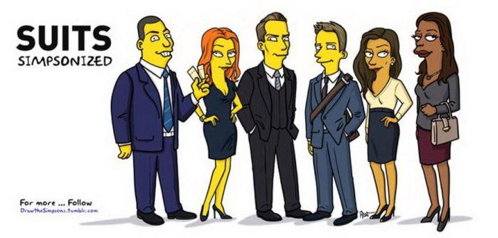Famous Pop Culture Characters Get The Simpsons Treatment (24 pics)