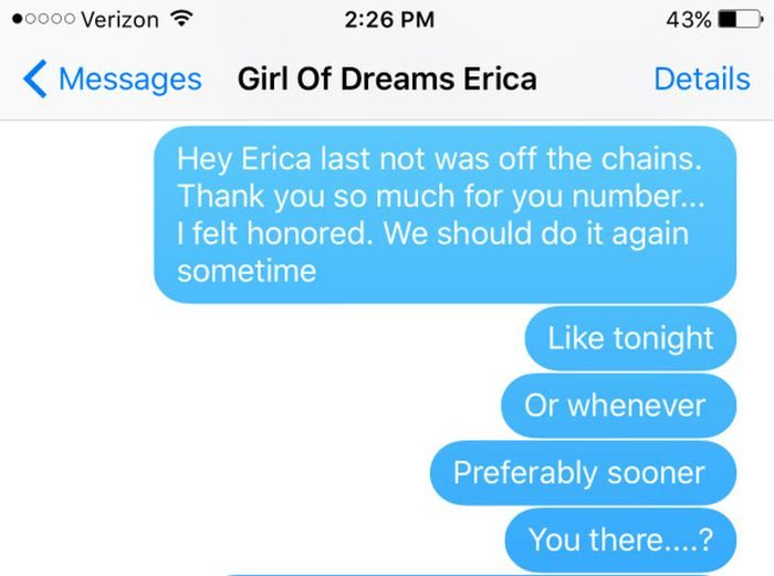 Girl Has A Brutal Response For Guy That Won't Leave Her Alone (3 pics)