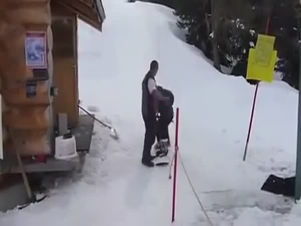 Epic Snowboarder Lift Fail