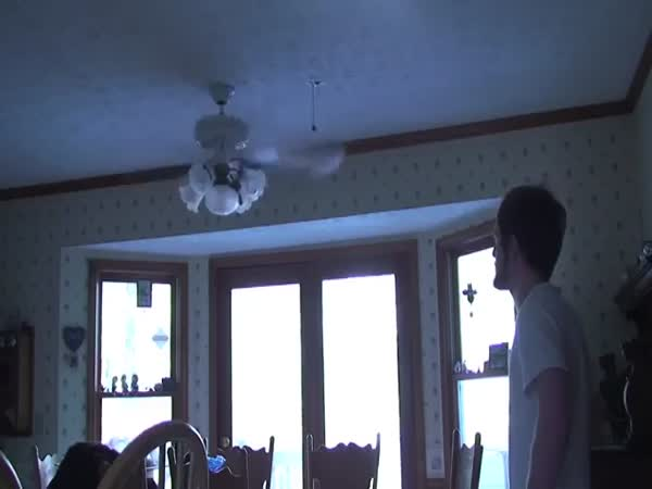 Man Hit His Head On The Fan