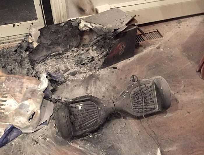 Another Hoverboard Has Exploded And Destroyed A Family's Home (4 pics)