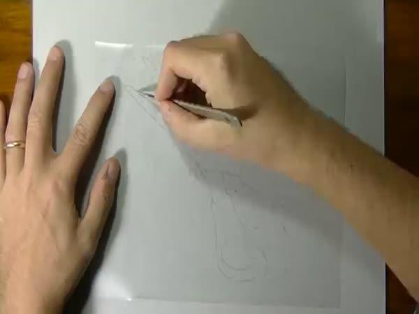 Drawing A Pair Of Scissors 3D Art