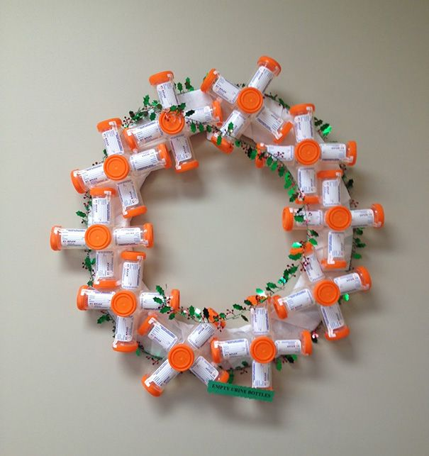 these hospital workers came up with some very creative christmas decorations 20 pics