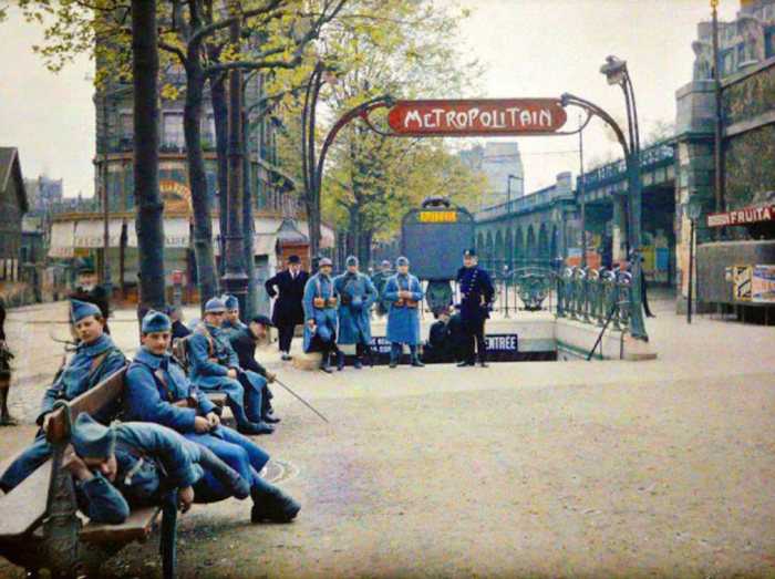 These Vintage Color Photos Of Paris Were Taken 100 Years Ago (55 pics)