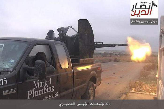 Somehow This Plumber's Pick Up Truck Ended Up On The Front Lines Of Syria (2 pics)