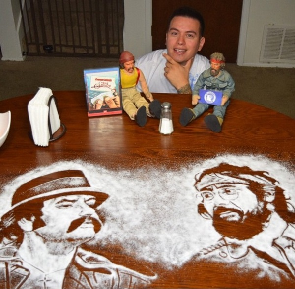 Rob Ferrel Makes Amazing Celebrity Portraits Out Of Salt (10 pics)