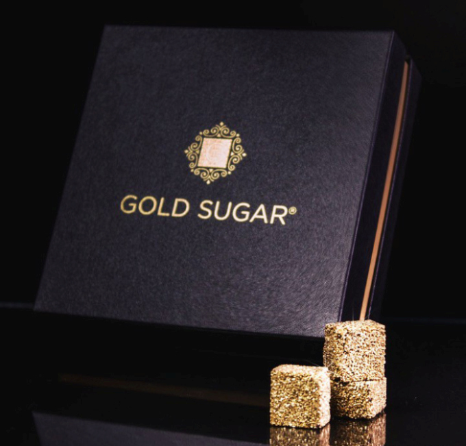 Gold Plated Sugar Is The Ultimate Rich Person Gift (3 pics)