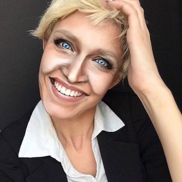 Artist Uses Makeup To Transform Herself Into 100 Different Celebrities (21 pics)