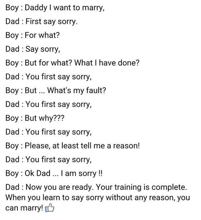 Dad Teaches Son An Important Lesson About Marriage (2 pics)