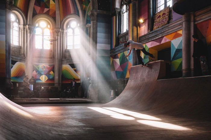 100 Year Old Church In Spain Gets Converted Into A Skate Park (7 pics)
