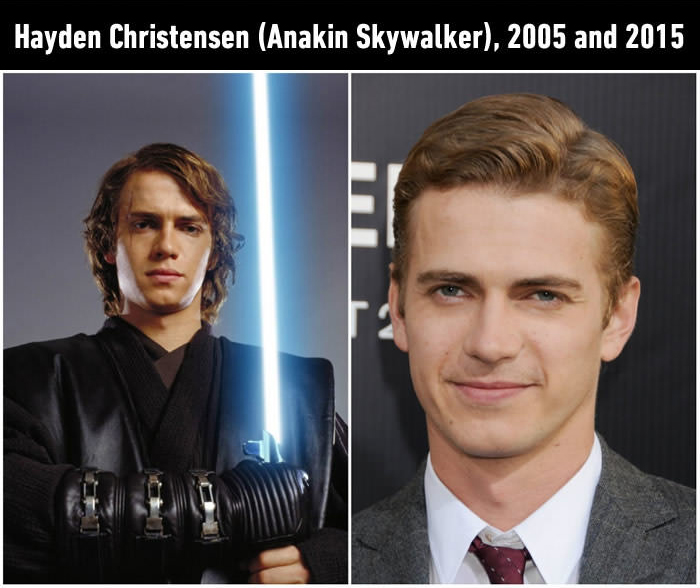 Iconic Star Wars Characters Back In The Day And Today (12 pics)