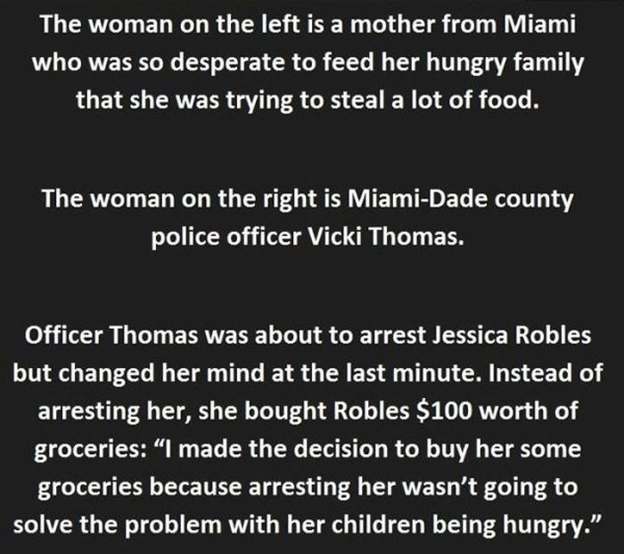 Cop Decides To Change A Thief's Life By Not Arresting Her (4 pics)