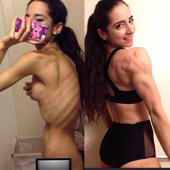 Anorexic Girl Changes Her Life And Completely Transforms Her Body (9 pics)