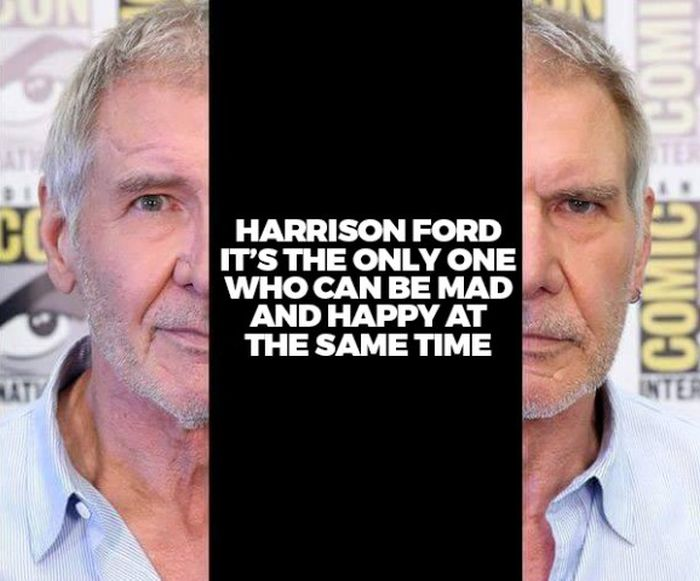 Harrison Ford Is The Only Person That Can Do This (2 pics)