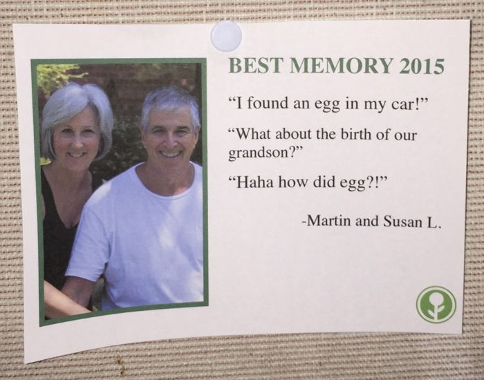 Someone Put Fake Best Memories Of 2015 On A Community Bulletin Board (9 pics)