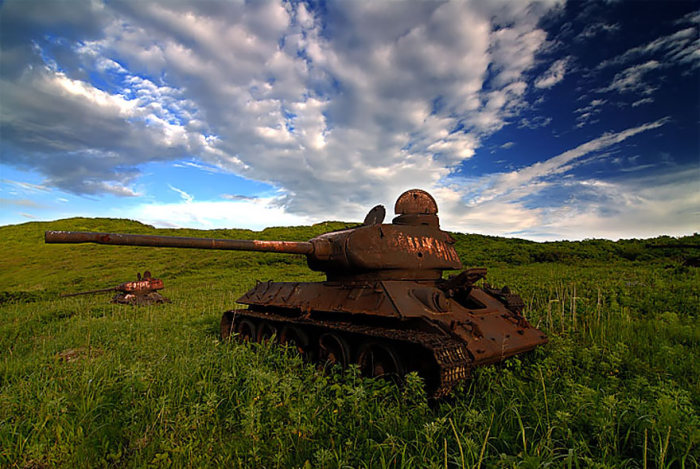 Abandoned Army Tanks That Have Become A Part Of Nature (33 pics)