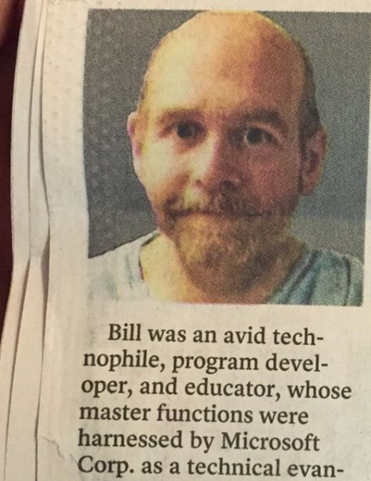 There's Something Really Strange About This Obituary (2 pics)