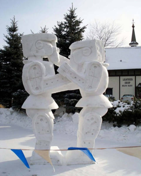 Your Mind Is About To Be Blown By These Impressive Snow Sculptures (35 pics)