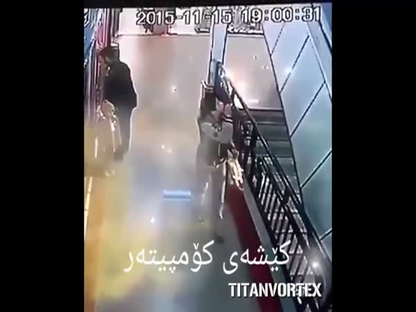 Hero Boy Saves Kids Life From Falling Off Escalator