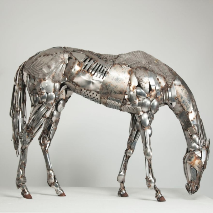 Artist Turns Scrap Metal Into Animals (13 pics)