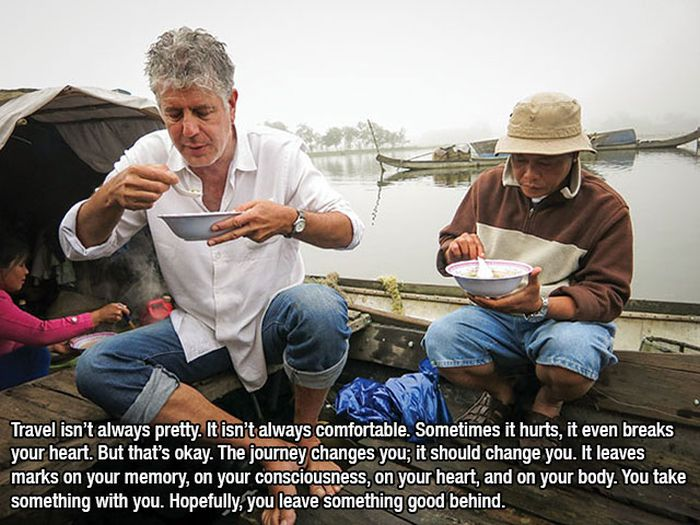 Anthony Bourdain Gives 15 Awesome Pieces Of Life Advice (15 pics)