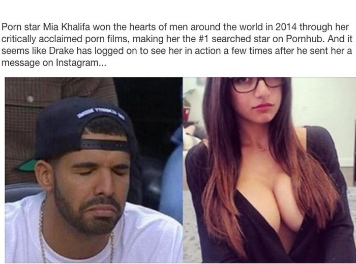 Drake Got Shut Down When He Tried To Hit Up Pornstar Mia Khalifa (3 pics)