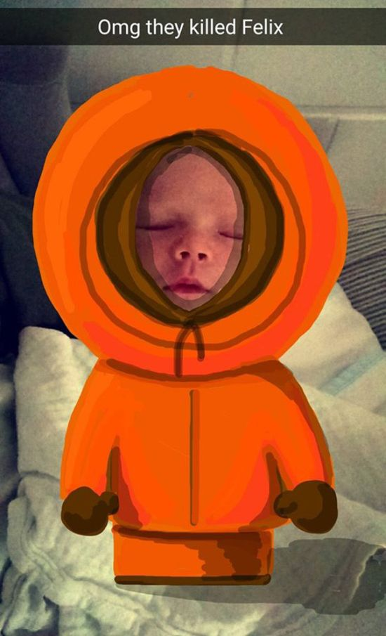 Dad Creates Epic Masterpieces By Doodling On His Baby's Snapchat Pics (20 pics)