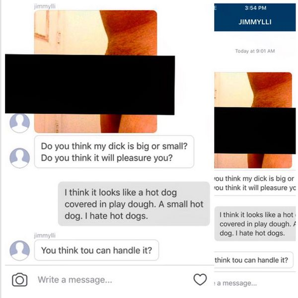Porn Star Has Hilarious Responses For Unwanted Dick Pics On Instagram (11 pics)
