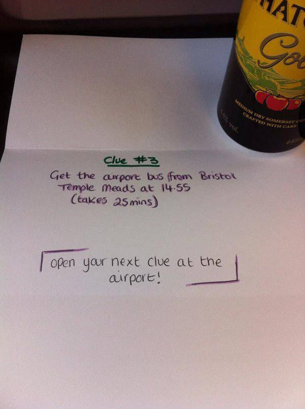 Girl Sends Boyfriend On A Romantic Surprise Adventure (6 pics)
