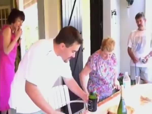 How Not To Pop Champagne Bottles On New Years Eve