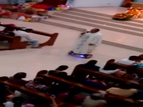 Watch Catholic Priest Deliver Swagged Out Sacred Mass On Hoverboard