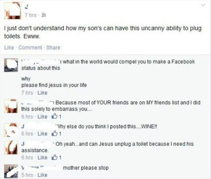 Kids Who Got Completely Owned By Their Parents On Facebook (34 pics)