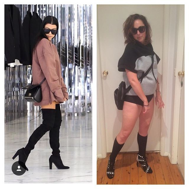 This Woman Recreated Iconic Celebrity Photos With Hilarious Results (36 pics)