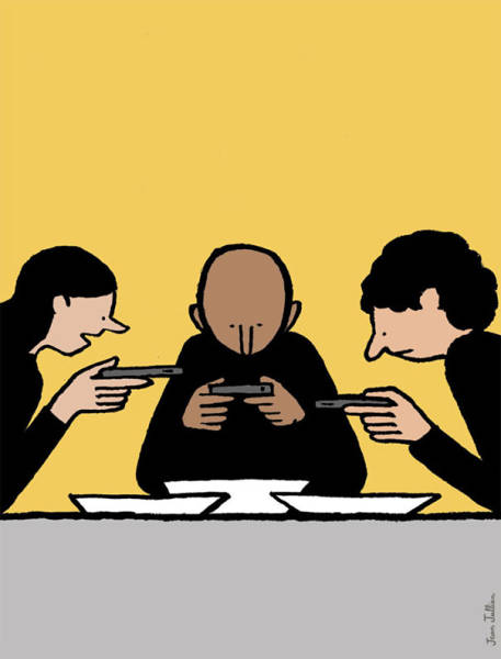 Honest Illustrations That Look At Society's Addiction To Technology (56 pics)