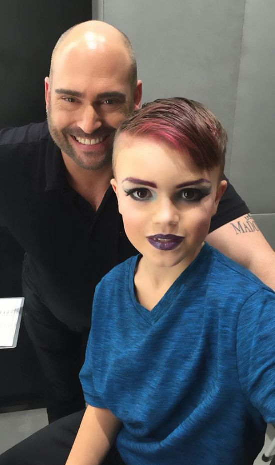 Mom Buys Makeup Lesson For Her 8 Year Old Son (4 pics)
